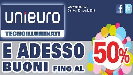 Acquisti Intelligenti  Da UniEuro buoni sconto fino al 50%!