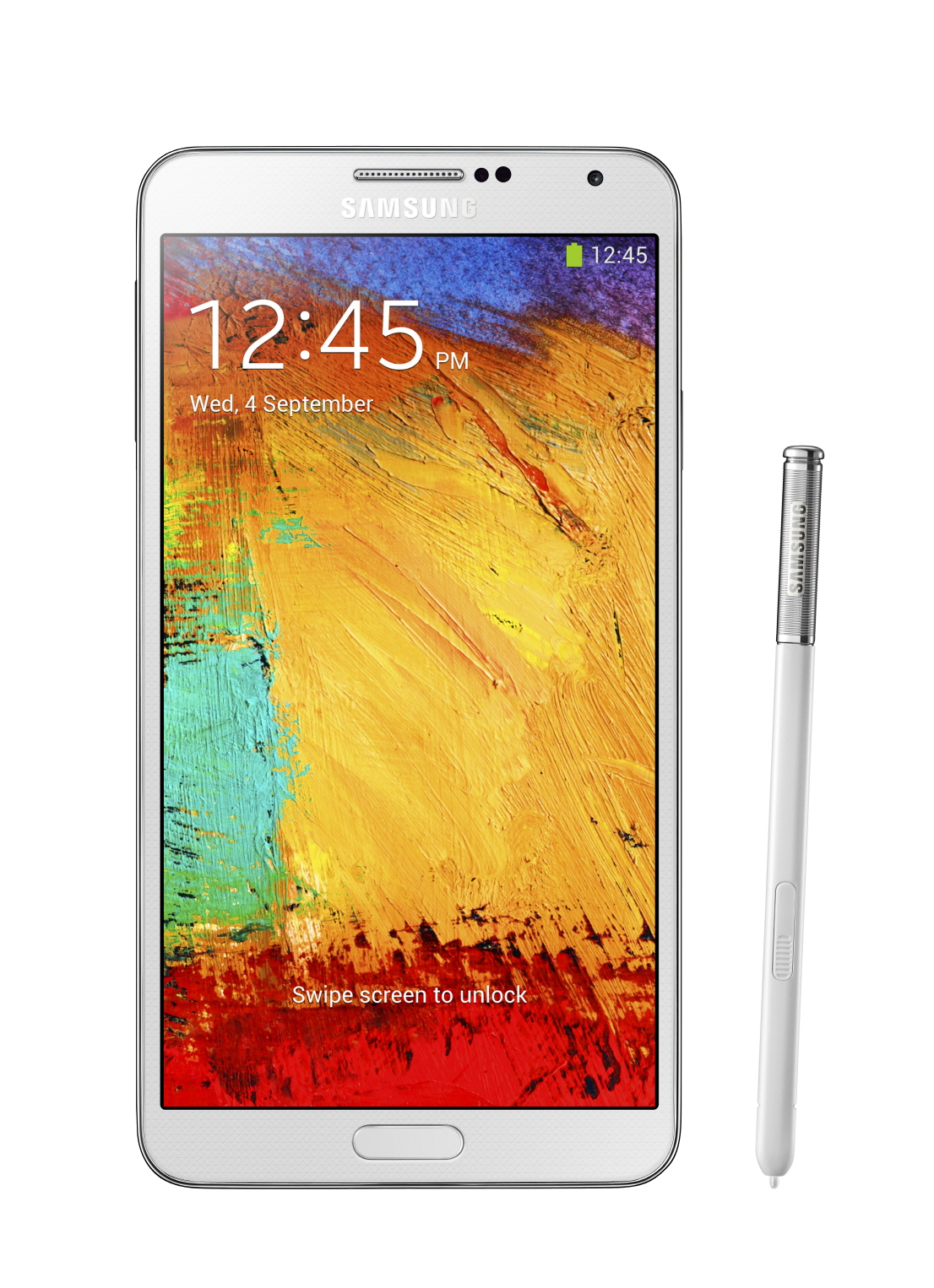 Galxy Note3_002_front with pen_Classic White