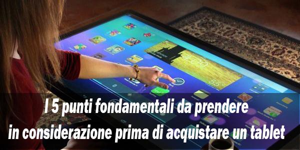 5 punti tablet