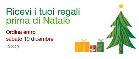 Amazon Ricevi i tuoi regali prima di Natale