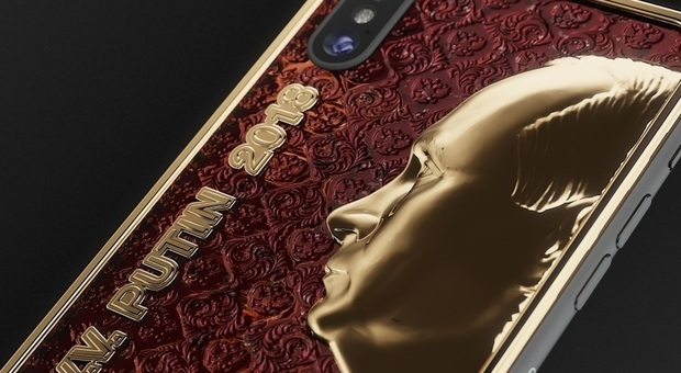 Uno smartphone in oro personalizzato !